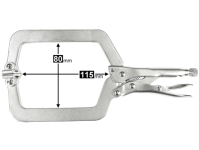 LOCKING C-CLAMP, WITH SWIVEL PAD