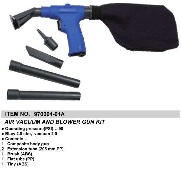 AIR VACUUM AND BLOWER GUN KIT