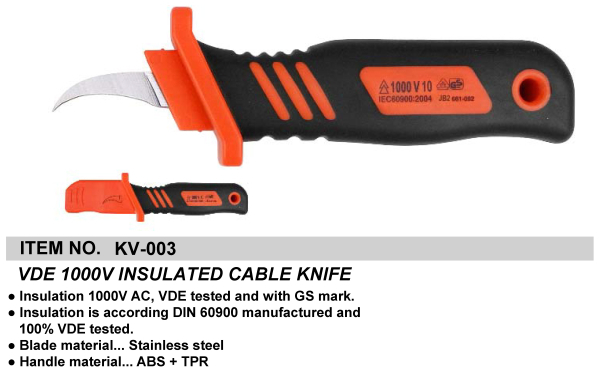 VDE 1000V INSULATED CABLE KNIFE