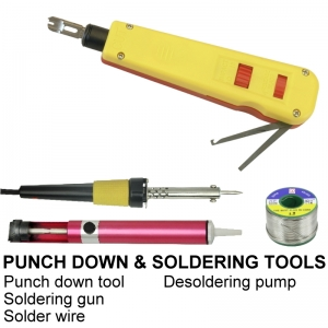 PUNCH DOWN AND SOLDERING TOOLS