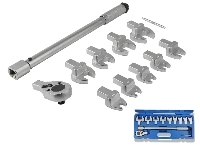 11 PCS HEAD INTERCHANGEABLE TORQUE WRENCH AND SPANNER SET